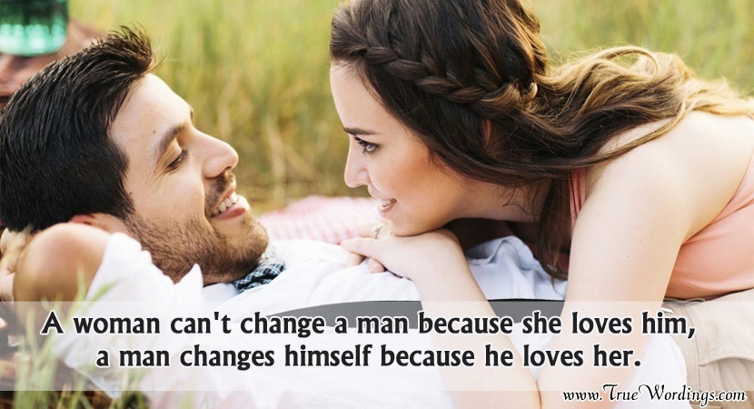 When A Woman Loves A Man Quotes