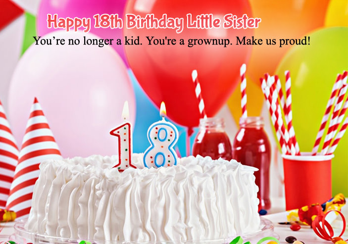 Best Birthday Wishes For Sister From Brother 18th Little