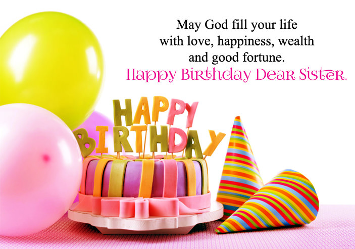 Happy Birthday Wishes Images for Sister Cute Sis Bday Greeting Quotes – Happy Birthday Greetings Sister