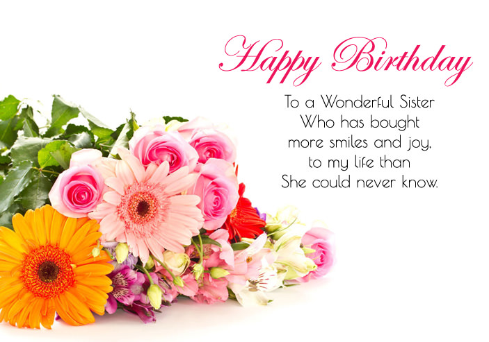 Happy birthday wishes images for sister cute sis bday greeting quotes birthday quotes for sister m4hsunfo