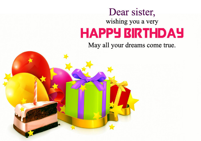 Happy Birthday Wishes Images For Sister, Cute Sis Bday