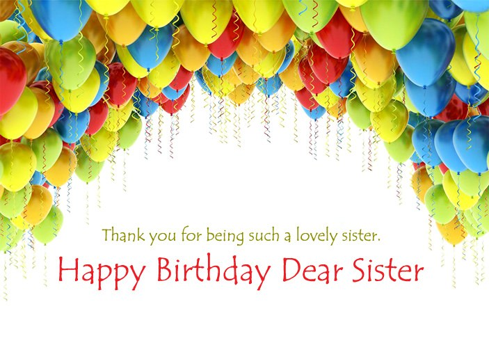 Happy Birthday Wishes Images for Sister, Cute Sis Bday ...