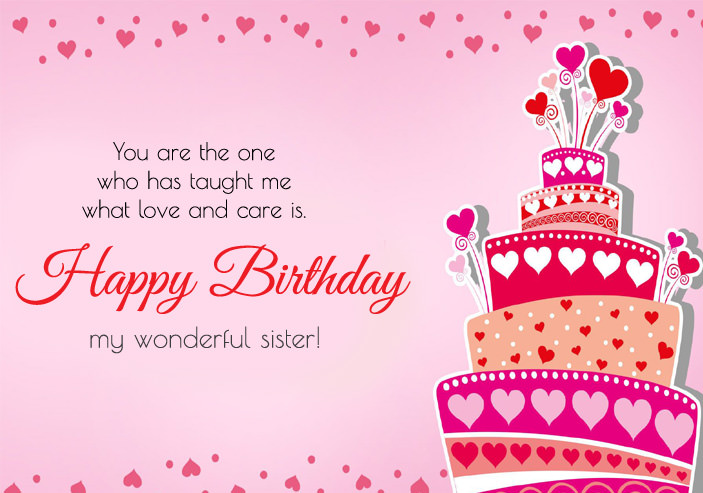 Happy Birthday Wishes Images for Sister Cute Sis Bday Greeting Quotes – Birthday Card for Brother from Sister