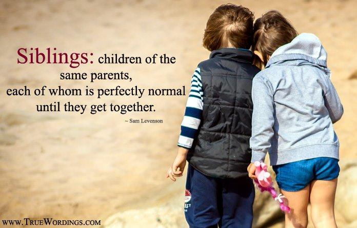 best siblings relationship sayings lines