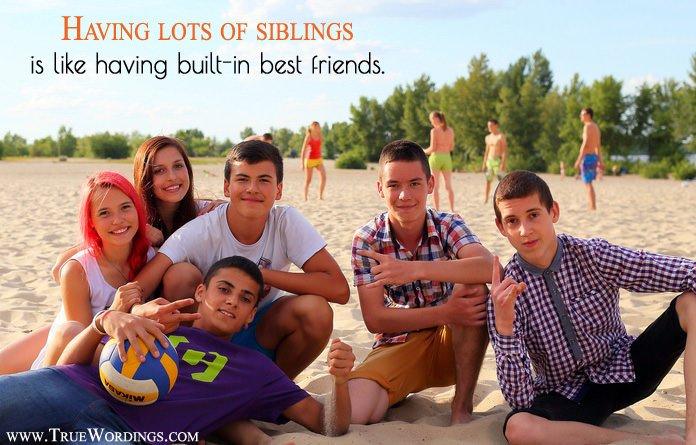 lots of siblings like friends group