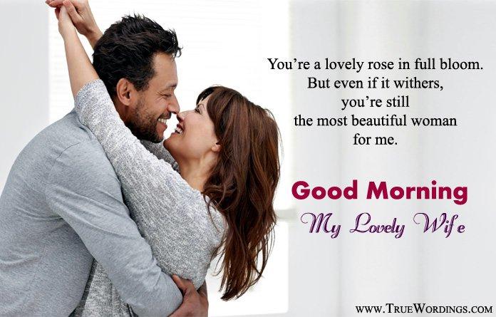 Romantic good morning beautiful