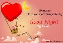 Romantic Good Night Images Quotes