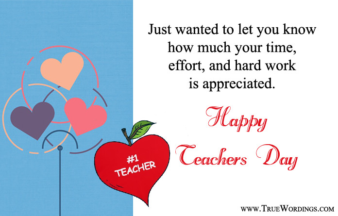 Teacher Appreciation Quotes for Teacher's Day