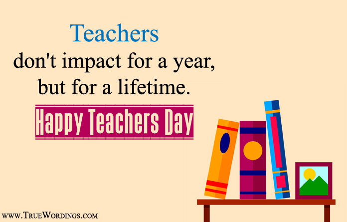 Teacher Day Quotes with Books Photos