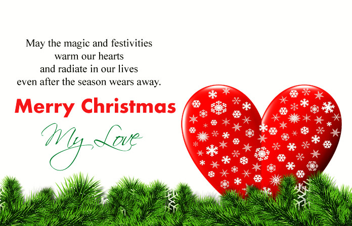Cute Romantic Merry Christmas Love Quotes Special Messages ...