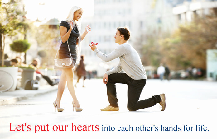 Boy Proposing to a Girl Love Quote Picture