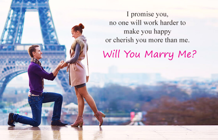 Eiffel Tower Images with Proposing Quotes