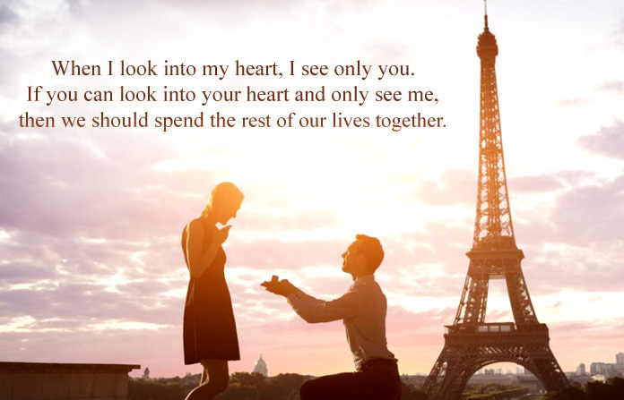 Marriage Proposal Quotes for Lover with \