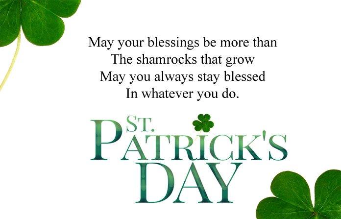 17 March St Patricks Day