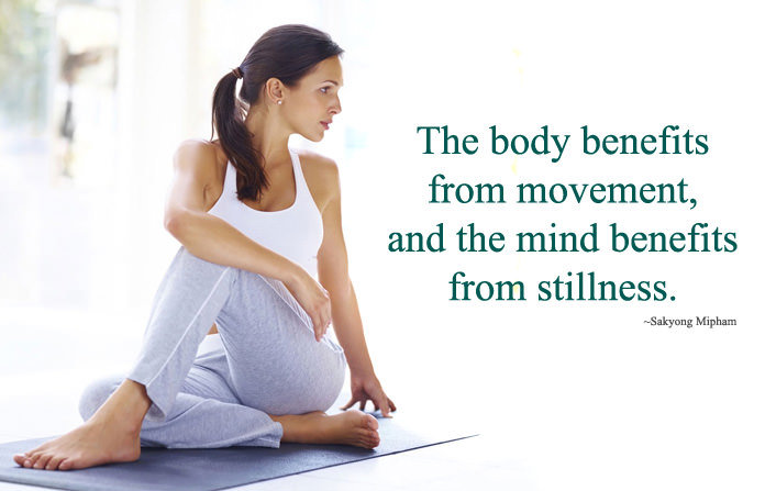 Beautiful Lines Status about Yoga