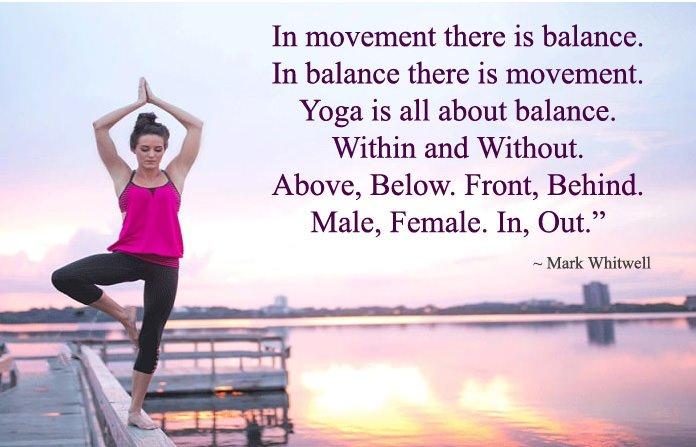 Yoga Quotes on Balance