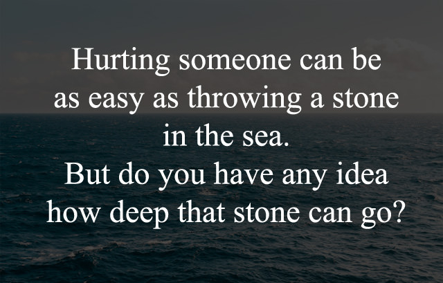 Caption about Hurting Someone