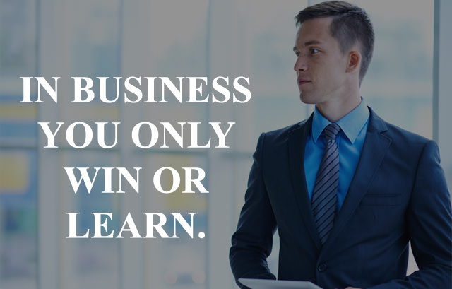 Insta Caption Status about Business Win or Learn