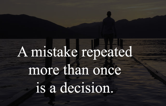 Lines about Mistake