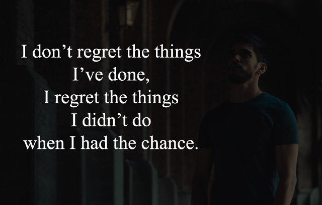 Lines about Regret