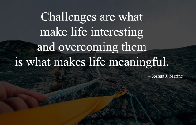 Meaningful, Interesting Life and Challenges Quotes