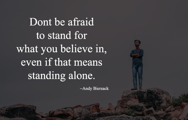Motivating Standing Alone Image with Quotes