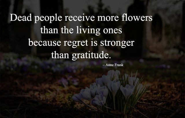 Regret is stronger than gratitude