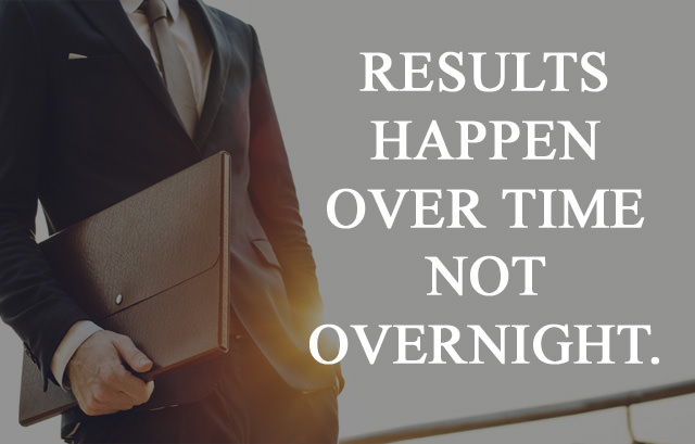 Results happen Results happen over time not overnight over time not overnight