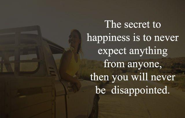Secret of Happiness Caption